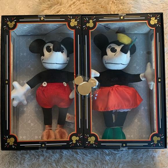 Mickey & Minnie 90th Anniv Plush Doll Set Ltd Rel